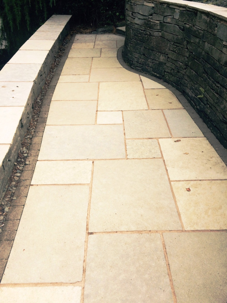 Indian Limestone Patio After Cleaning