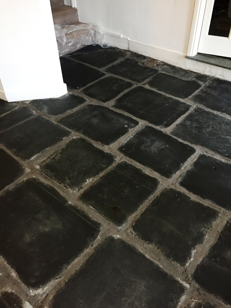 Slate Flagstone Floor After Milling